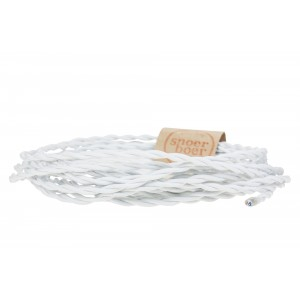 Twisted white fabric cable at lightessentials.com