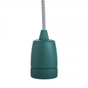 Silicone lamp holder sleeve 'Copenhagen' dark green Light Essentials