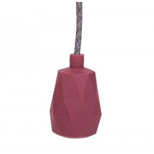 Silicone lamp holder sleeve marsala