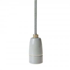 Porcelain lamp holder E14 grey Light Essentials