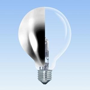Light bulb with side reflection
