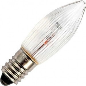 Christmas spare bulb E10 13x44mm 8V 3W ribbed