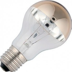 Incandescent bulb 40W top mirror gold