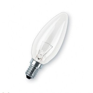7W Chandelier incandescent candle at Light Essentials