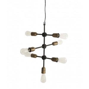 "House Doctor pendant ""Molecular"" black/brass Light Essentials"