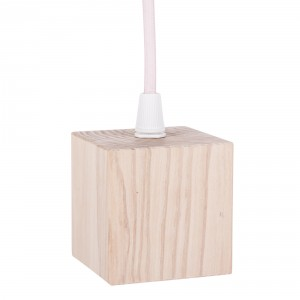 Wooden lamp holder cover with E27 socket – cube Light Essentials
