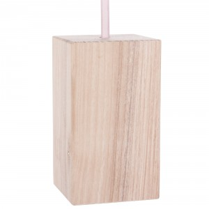 Wooden lamp holder cover with E27 socket – long cube Light Essentials