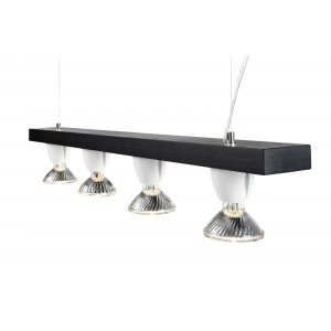 "Ifö Electric Ceiling fixture ""basic"" dark oak / porcelain"