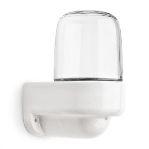 'Plain porcelain' II - wall fixture with clear glass