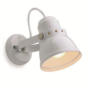 Retro wall light small white