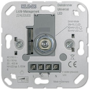 Jung built-in LED dimmer 3-100W Light Essentials