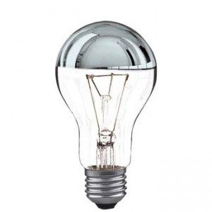Top reflector incandescent bulb E27 100W