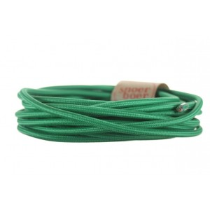 'Monstera' green fabric cable at Light Essentials