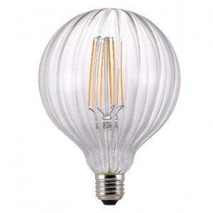 'Avra' filament LED lamp E27 ribbed clear Light Essentials