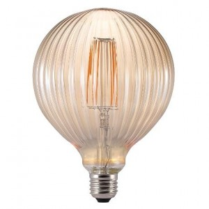 'Avra' filament LED lamp E27 ribbed gold Light Essentials