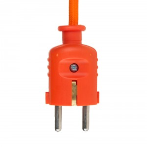 Orange colored plug with schuko Light Essentials