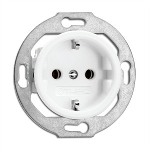 Porcelain built-in power socket at Light Essentials
