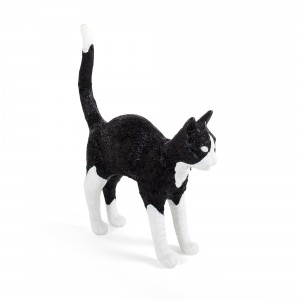 Seletti 'Jobby the Cat' table lamp - black and white Light Essentials