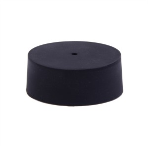 Silicone ceiling rose for round central conduit box