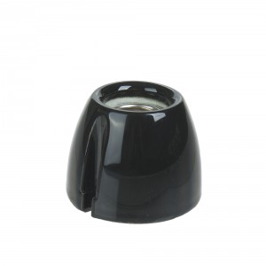 Wall lamp 'basic' black porcelain Light Essentials