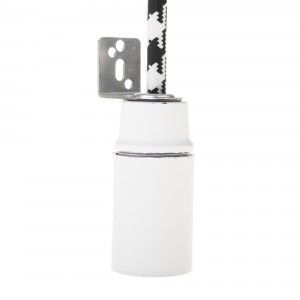 E14 white lamp holder with right angled mounting plate Light Essentials