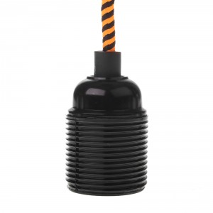 Lamp holder with external thread E27 black