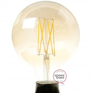 Snoerboer dimmable LED filament globe Ø125mm 4W E27 gold