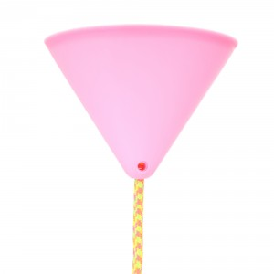 Ceiling rose pink for thick cord Light Essentials