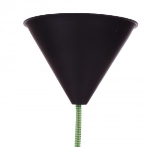 Ceiling rose black for thick cord