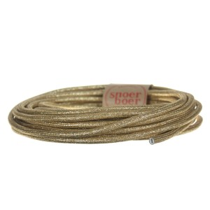gold textile cable Snoerboer light essentials