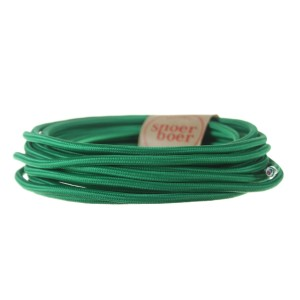 Dark green fabric cable