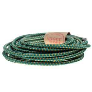 Colored textile cable white Snoerboer