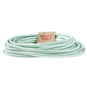 pastel green fabric cord