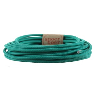 Turquoise fabric cable