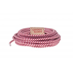 Candy stick fabric cable red white
