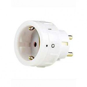 Plug with rotary switch white