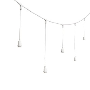 String lights dropped sockets long - white - E27 - 5m - connectable Light Essentials