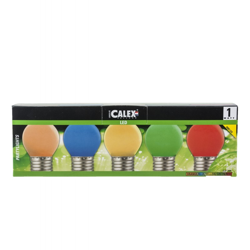 Set of 5 colored LED party lights