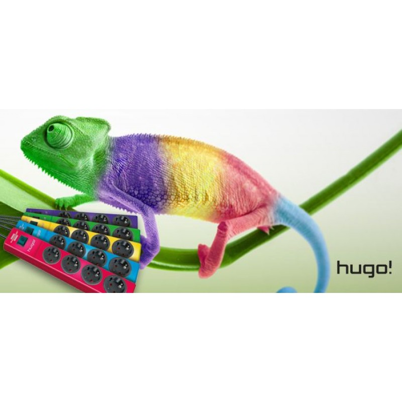 Hugo! extension socket 4-way violet light essentials
