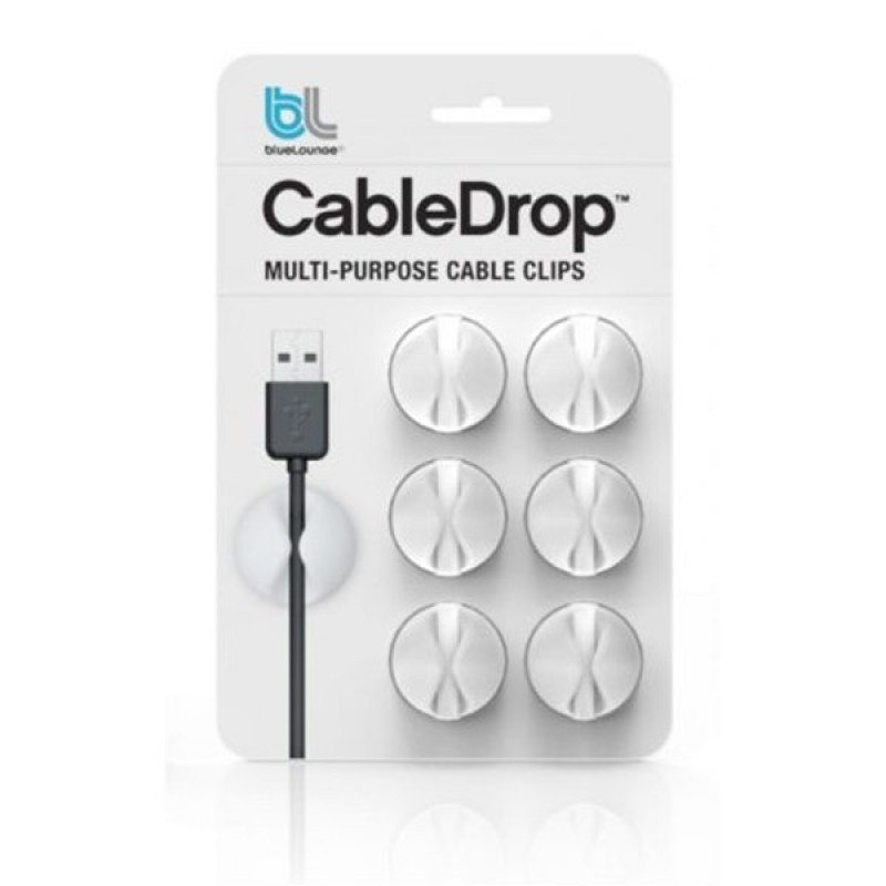 CableDrop white cable clamp (six pack) Light Essentials