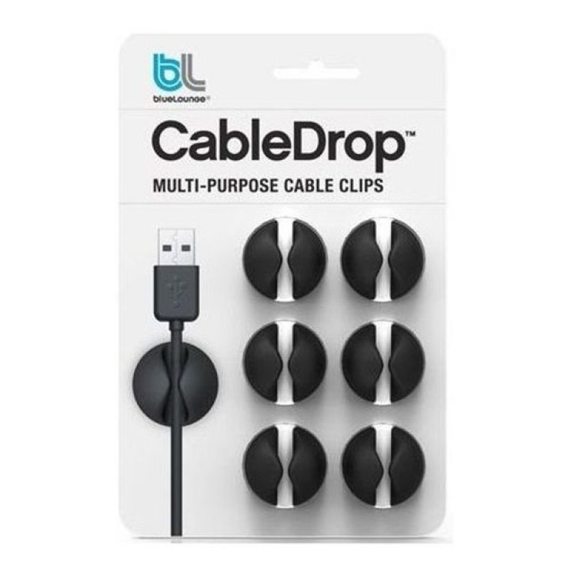 CableDrop black cable clamp (six pack) Light Essentials