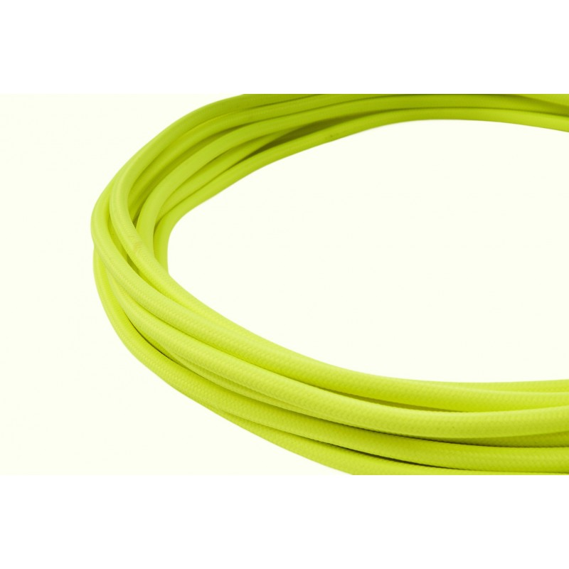 Neon yellow textile cable