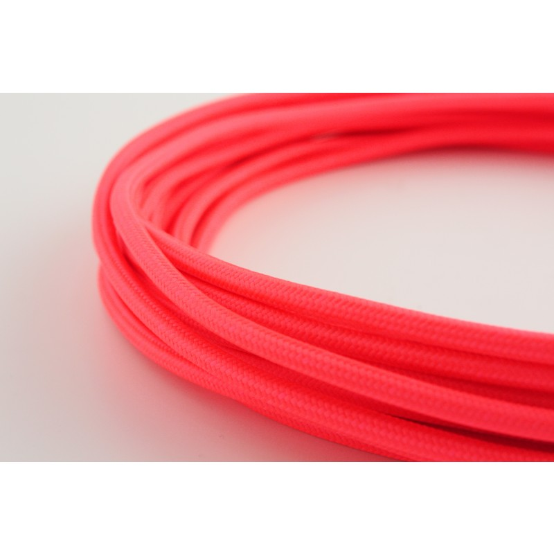 fabric cable neon pink