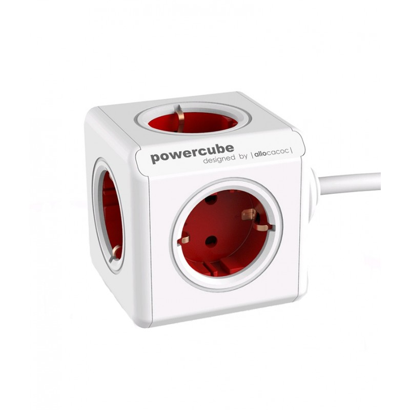 'Powercube' red plug box light essentials