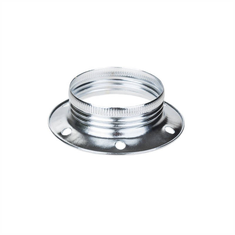 Metal fitting ring for E27 with male thread