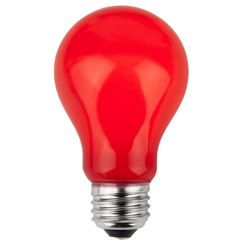 red incandescent bulb
