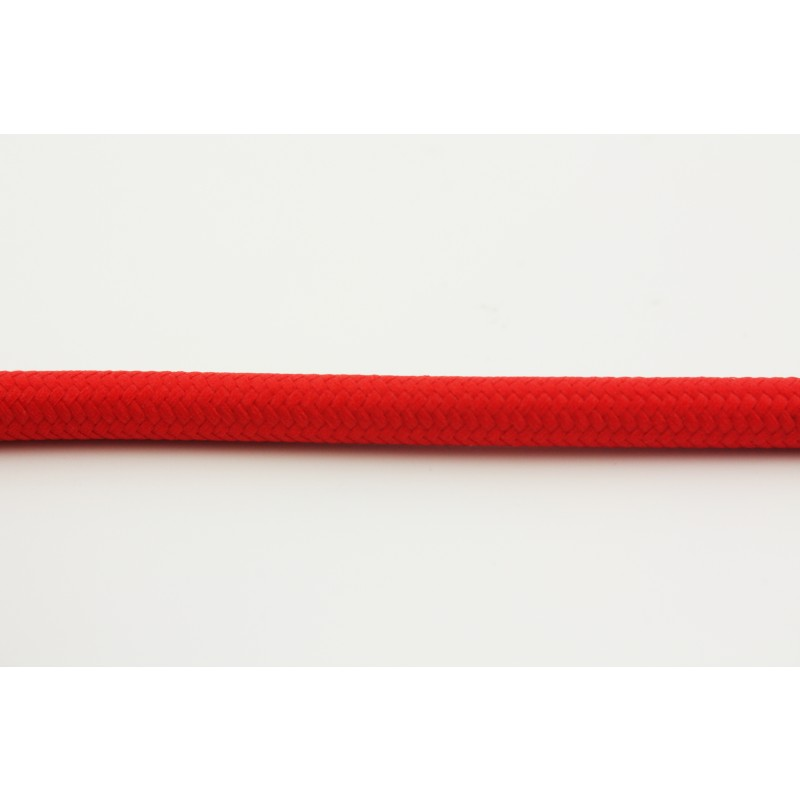 Red textile cable Snoerboer