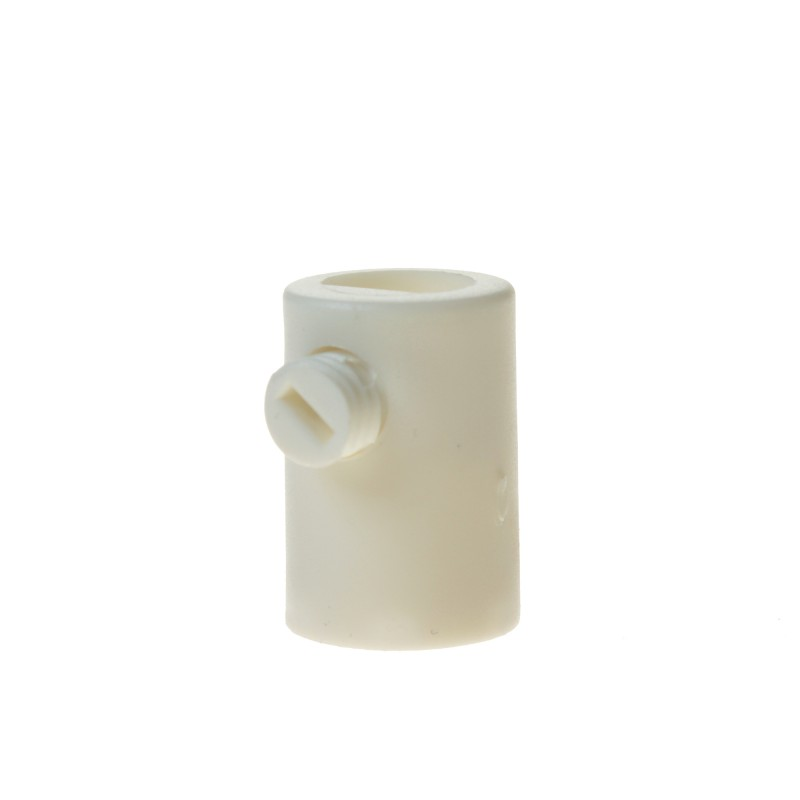 White cable strain relief with inner thread