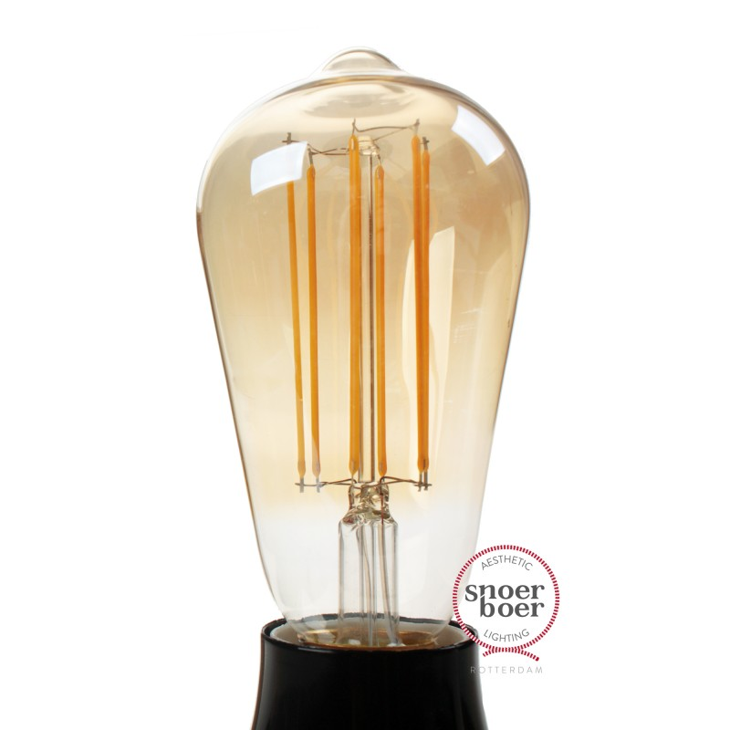 Snoerboer dimmable LED filament Edison 4W E27 gold Light Essentials