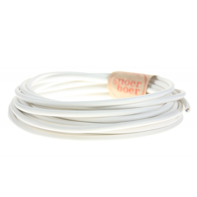 snoerboer plastic white cable